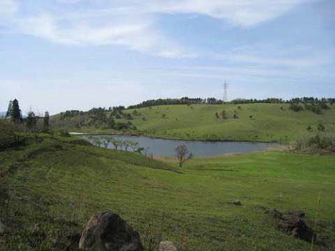 山奥にひっそりとある曽田の池